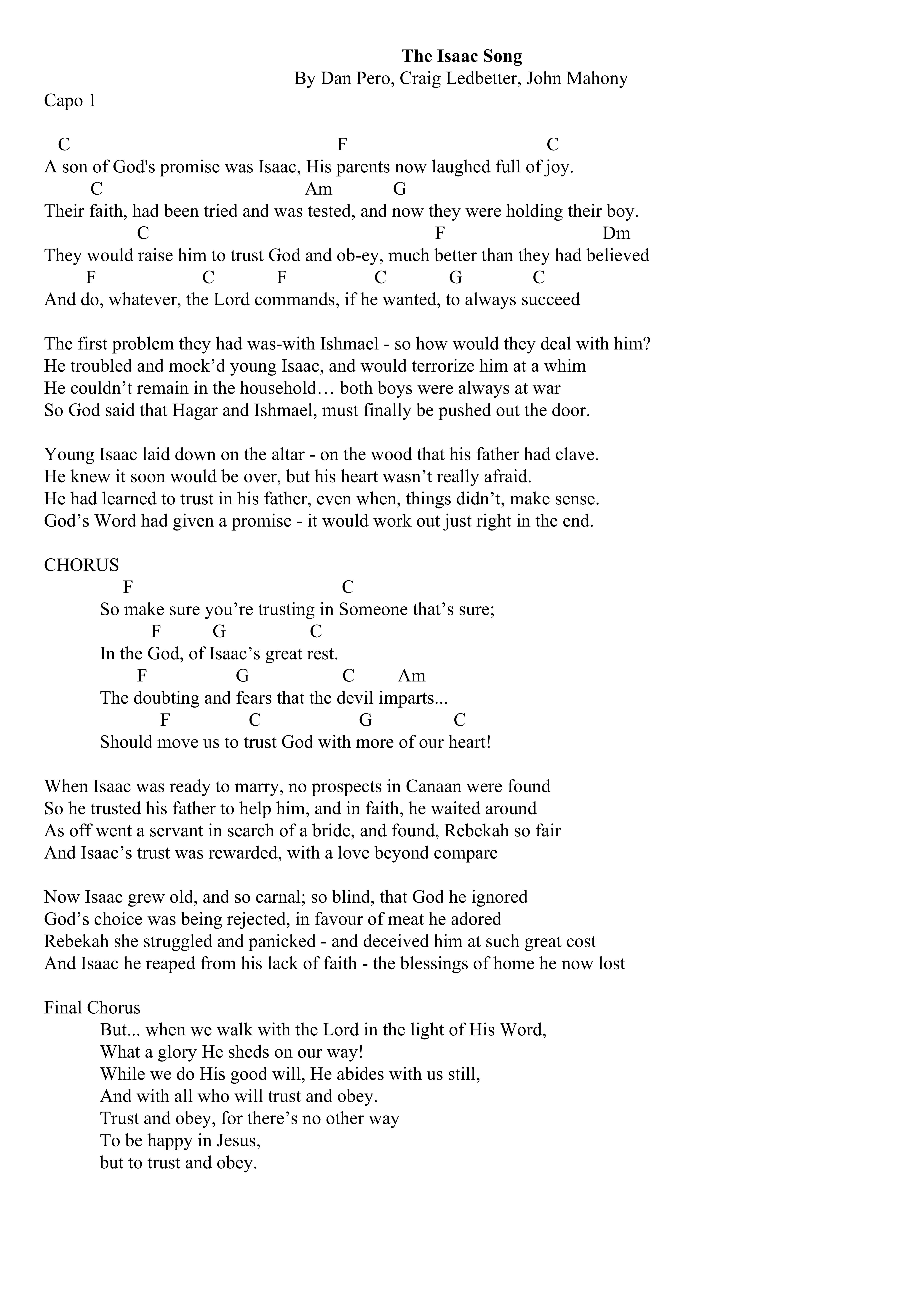 The Isaac Song
